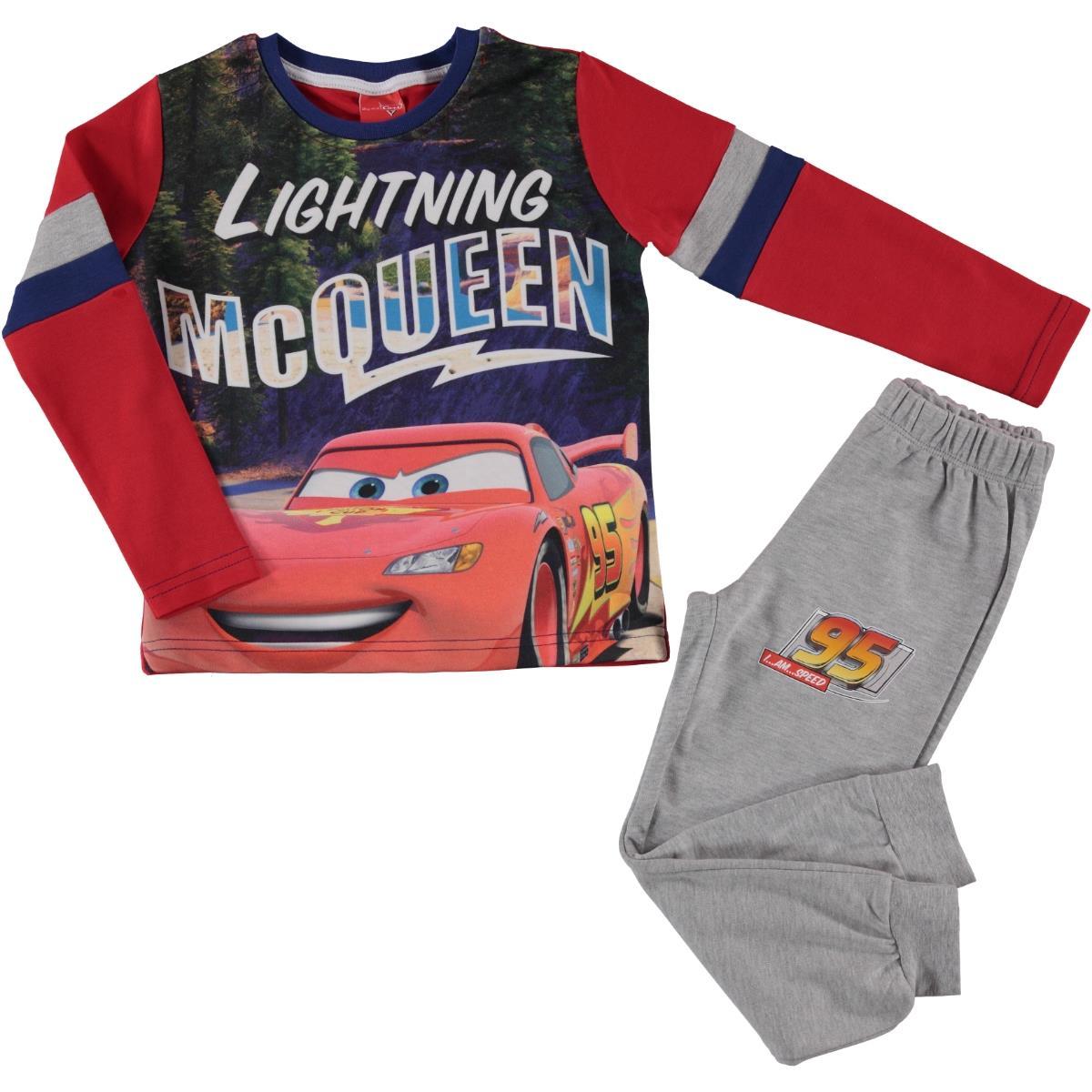 çimpa Cr9255 Kir şimşek Mcqueen Lisanslı Penye Pijama Takımı 4 9 Yaş