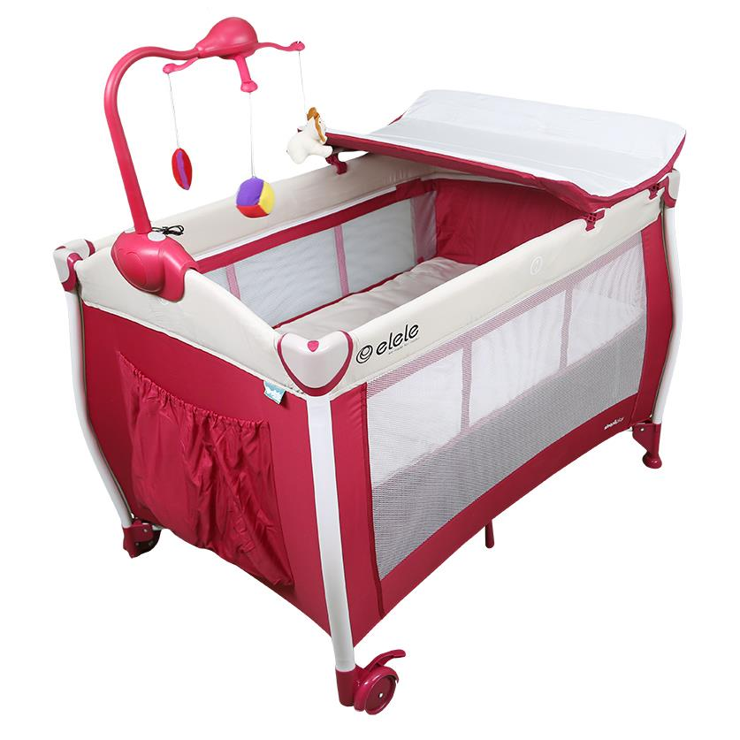 Elele Sleep & Play Plus Oyun Parkı 70x110 cm Pembe