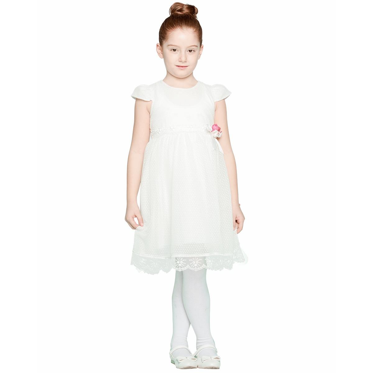 4ba31c97c79ff 18106 / EKR Missiva Kız Çocuk Elbise 6-9 Yaş Ekru