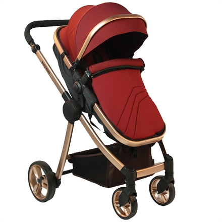 Baby Enzo Gold Elite Travel Sistem Bebek Arabası Bordo