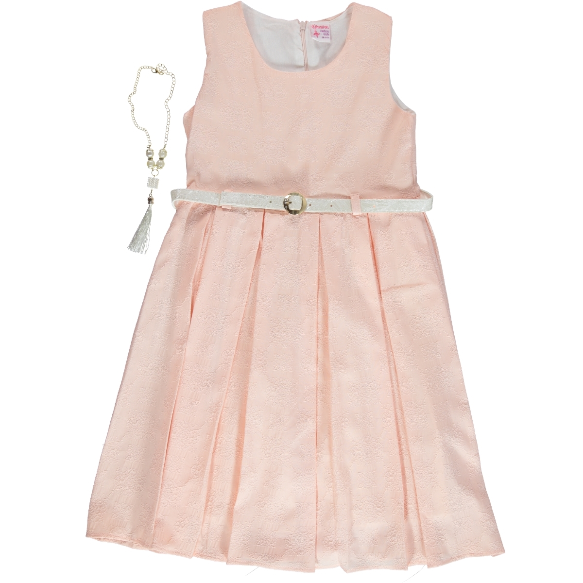 fe2994b9c276d 2253 / PDR Missiva Kız Çocuk Elbise 10-13 Yaş Pudra Pembe