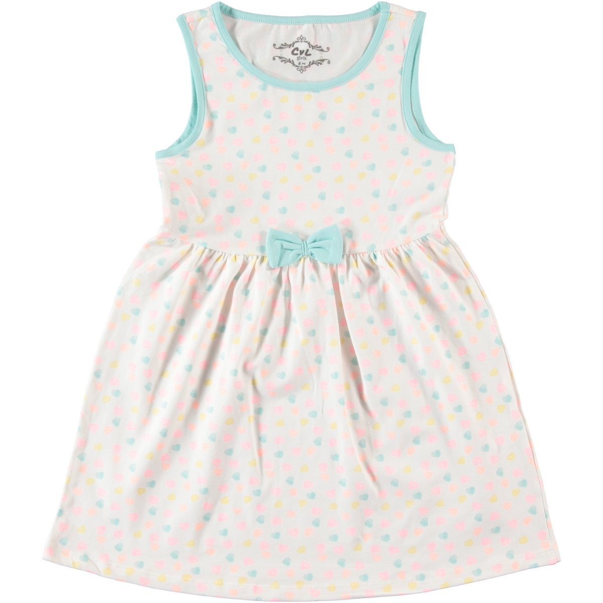 0b92afe60f90c 7612 / EKR Cvl Kız Çocuk Elbise 6-9 Yaş Ekru