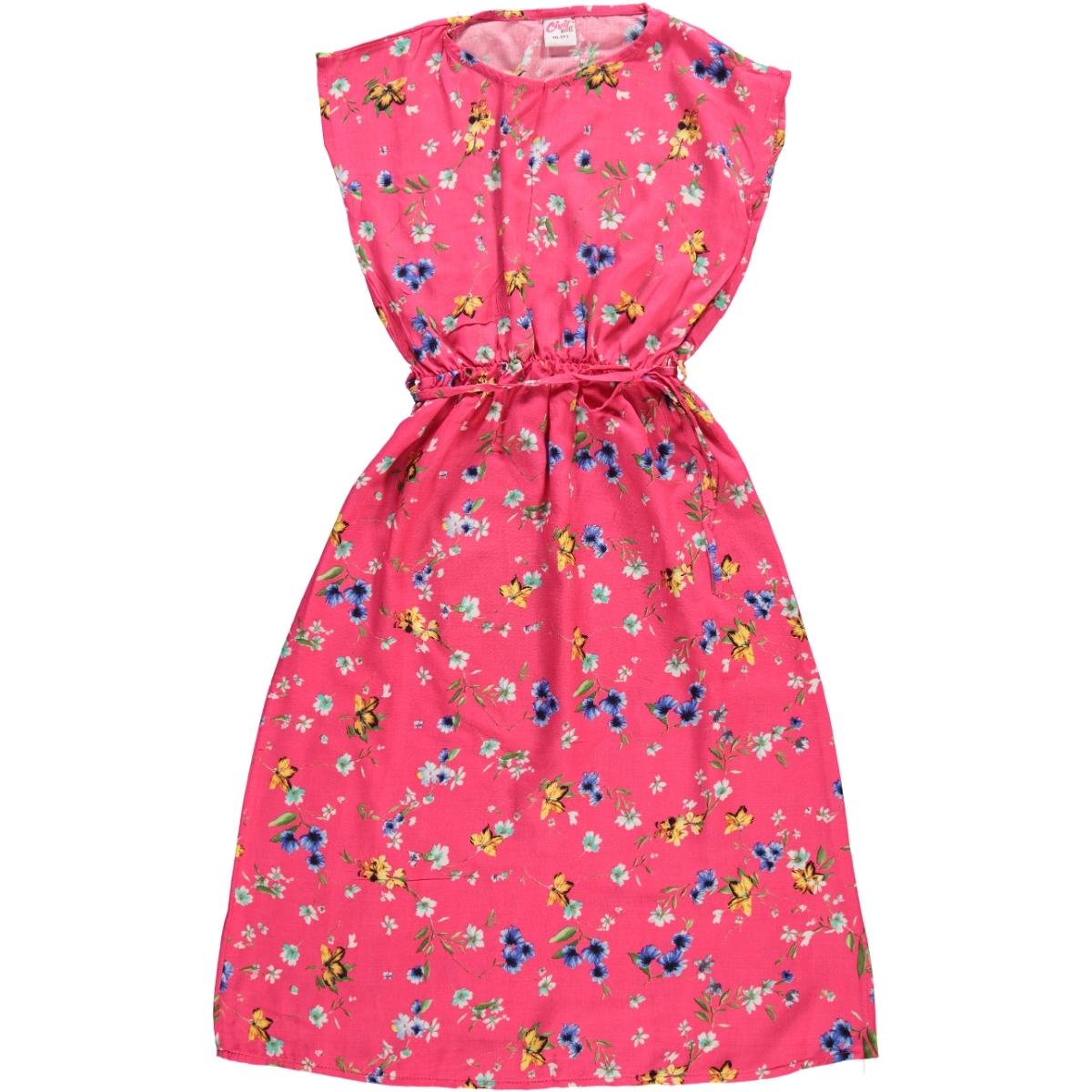 840286bc8f764 374 / FSY Civil Girls Kız Çocuk Elbise 10-13 Yaş Fuşya
