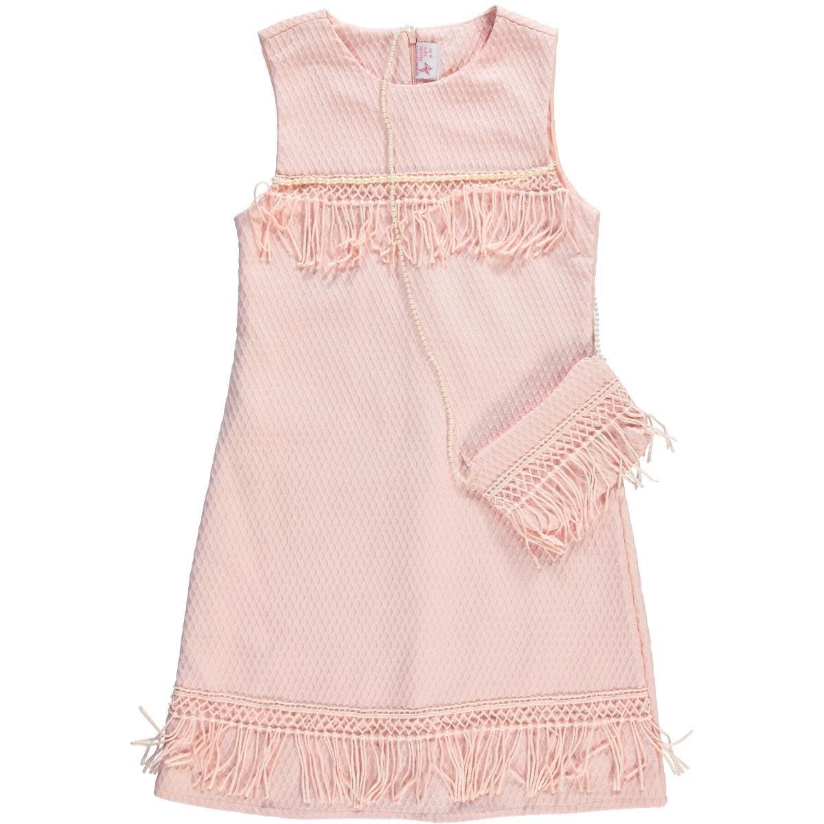 14be1de82e130 18059 / PDR Missiva Kız Çocuk Elbise 10-13 Yaş Pudra Pembe