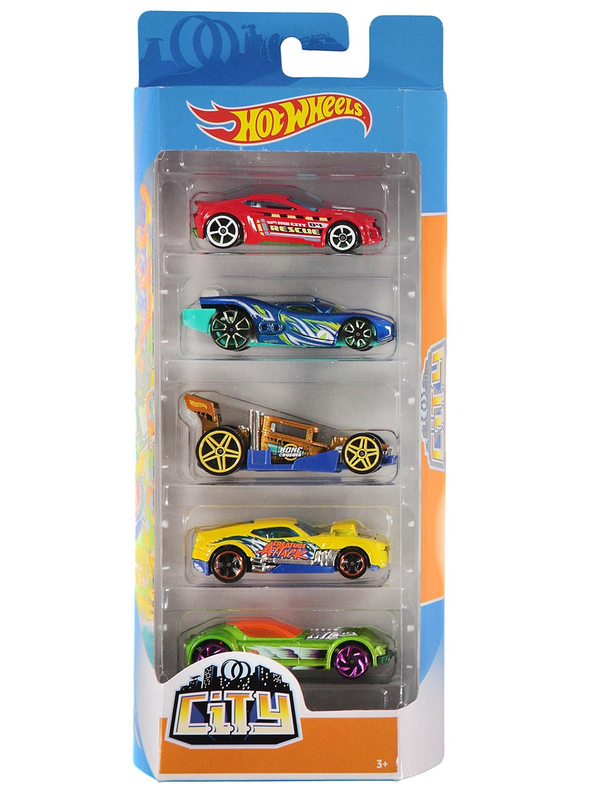 Mtl 1806 Std 2 Hot Wheels 5 Li Araba Seti 3 Yas Mavi