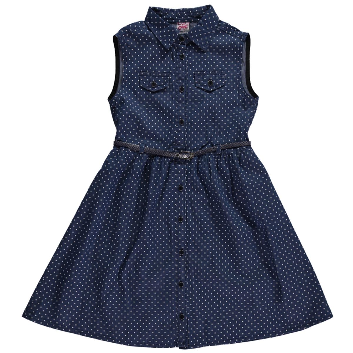 ba3ab1e259b38 655 / BYZ Civil Girls Kız Çocuk Kot Elbise 10-13 Yaş Beyaz