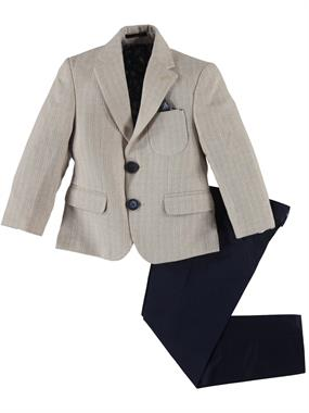55ea1e5df52b9 Civil Class Erkek Çocuk Takım Elbise 2-5 Yaş Bej